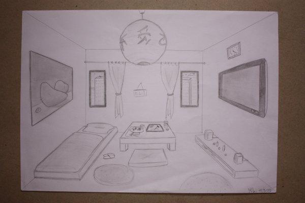 Blog de dessin photographie dessin photographie for Chambre en perspective lineaire