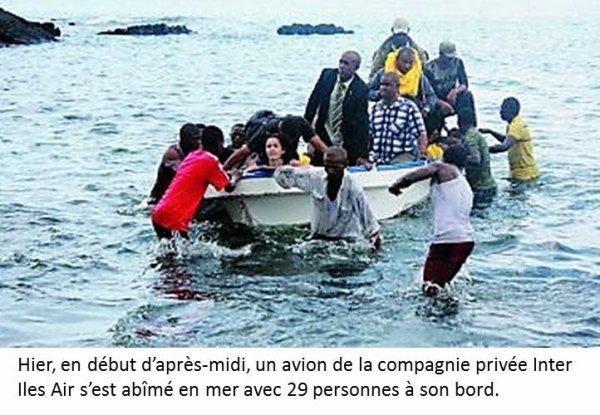 Crash aérien aux Comores : 29 rescapés