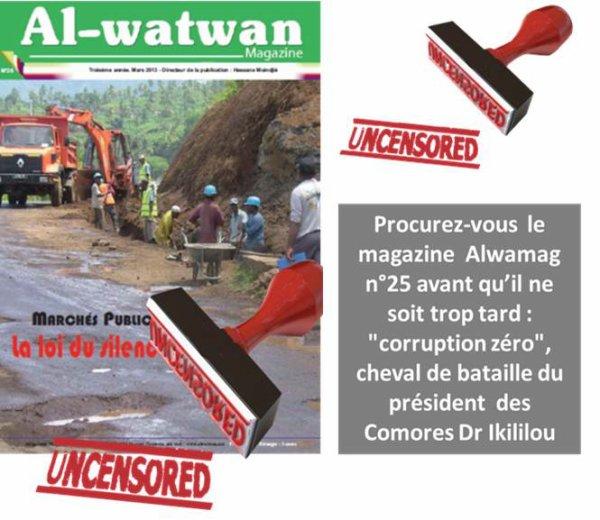 COMORES : LA LOI DU SILENCE AU FIN FOND DE LA CORRUPTION.