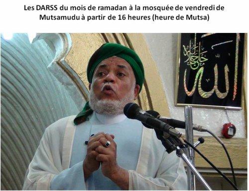 ANJOUAN / RAMADAN : LES DARSS D'OUSTADH SAMBI EN DIRECT